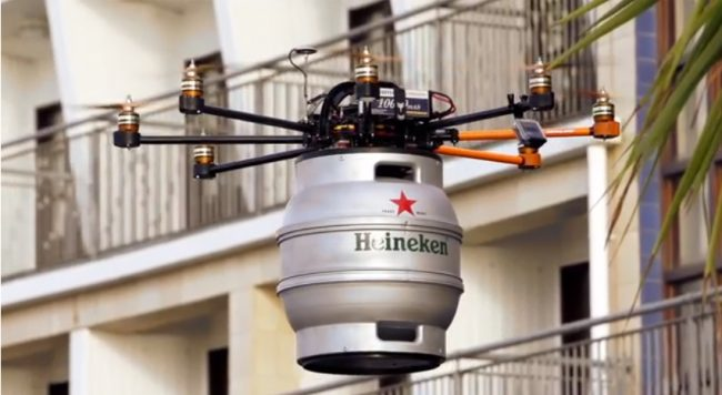 Delivery drones have been around for some time